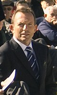 Tony Abbott. Crop from another upload to commons.
