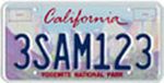California Yosemite license plate 1996.jpg