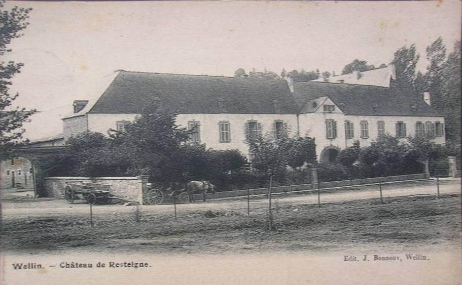 Le château de Resteigne;  Ancienne photo