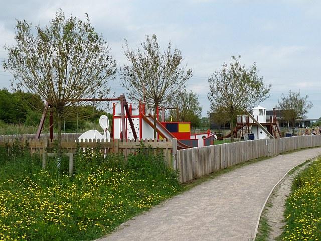 Children's play area, Newport Wetlands Reserve - geograph.org.uk - 1346887