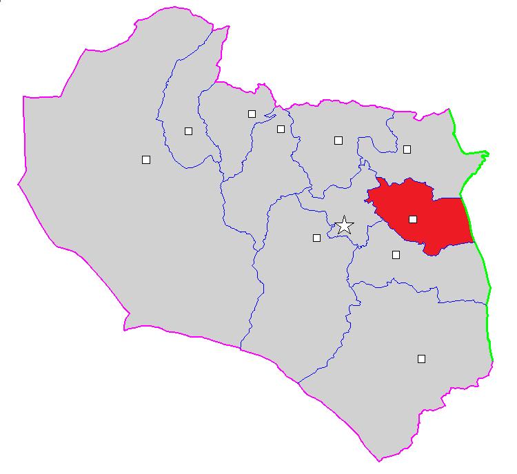 شهرستان درمیان