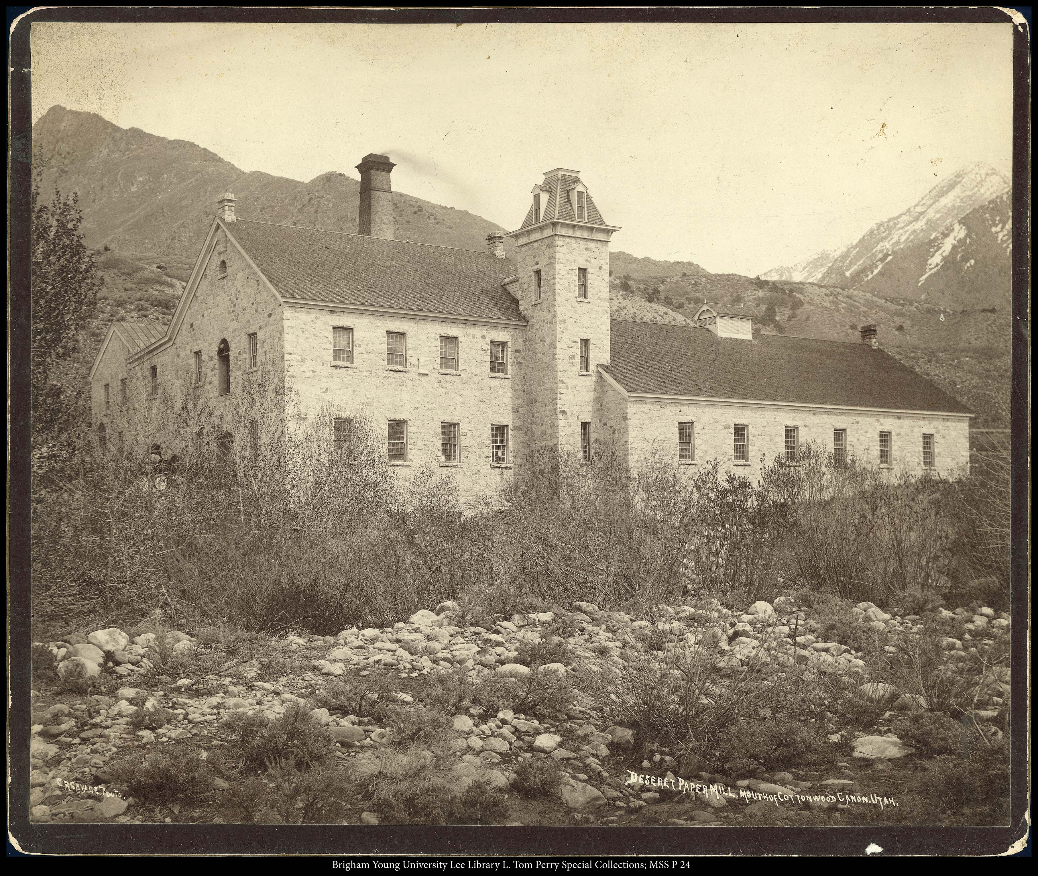 File:Deseret Paper Mill, Mouth Of Cottonwood Canon Utah. C