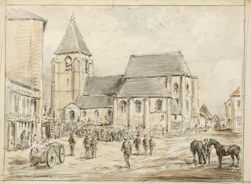 File:First World War Sketchbook Volume 1 - Bray sur Somme Art.IWMART16707A31.jpg