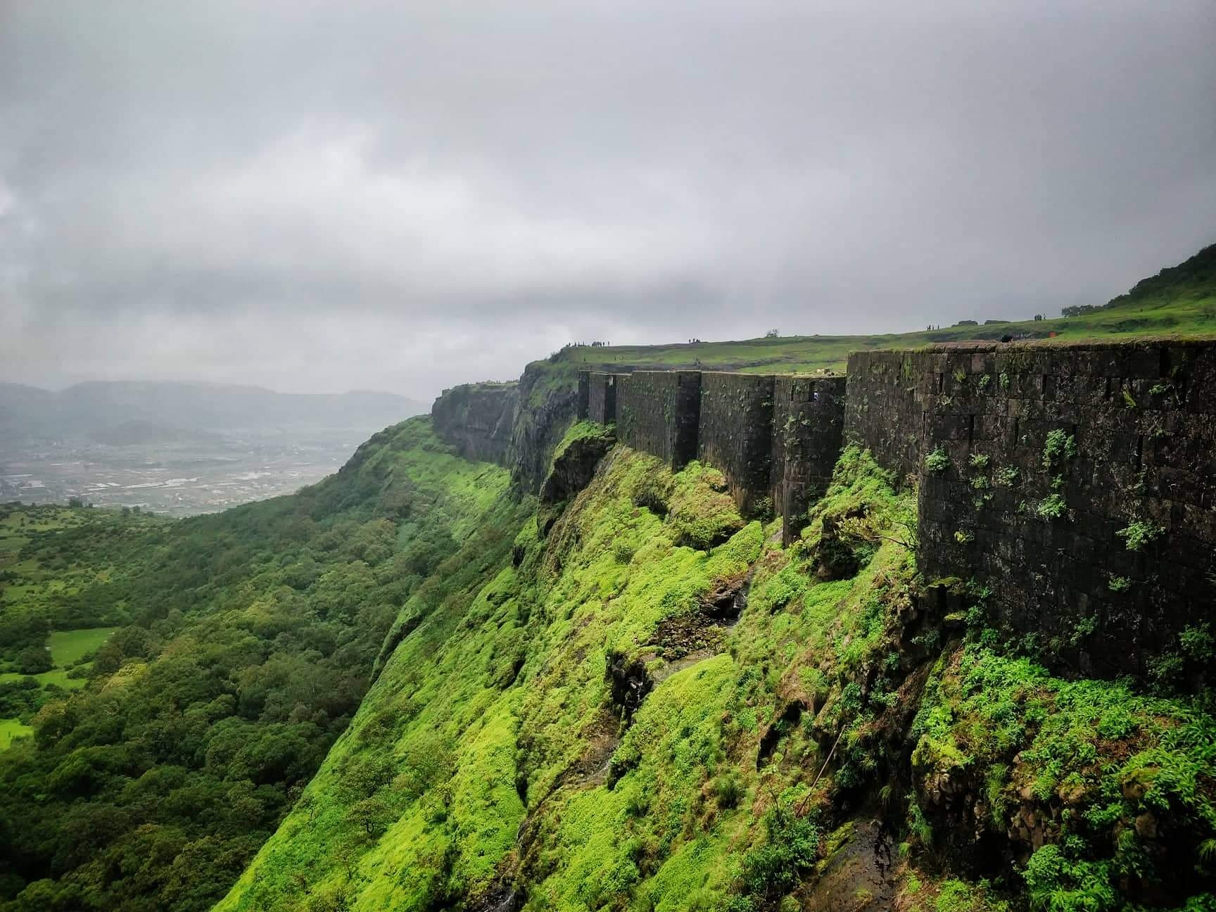 View from Walls of Rajah fort, Pune