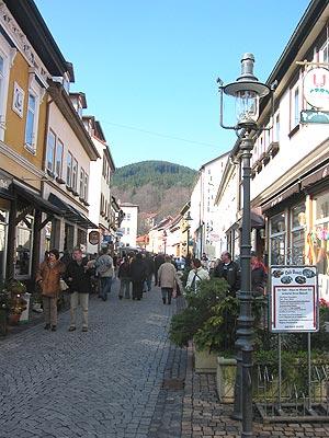 Hauptstraße (Hoofdstraat) in Friedrichroda