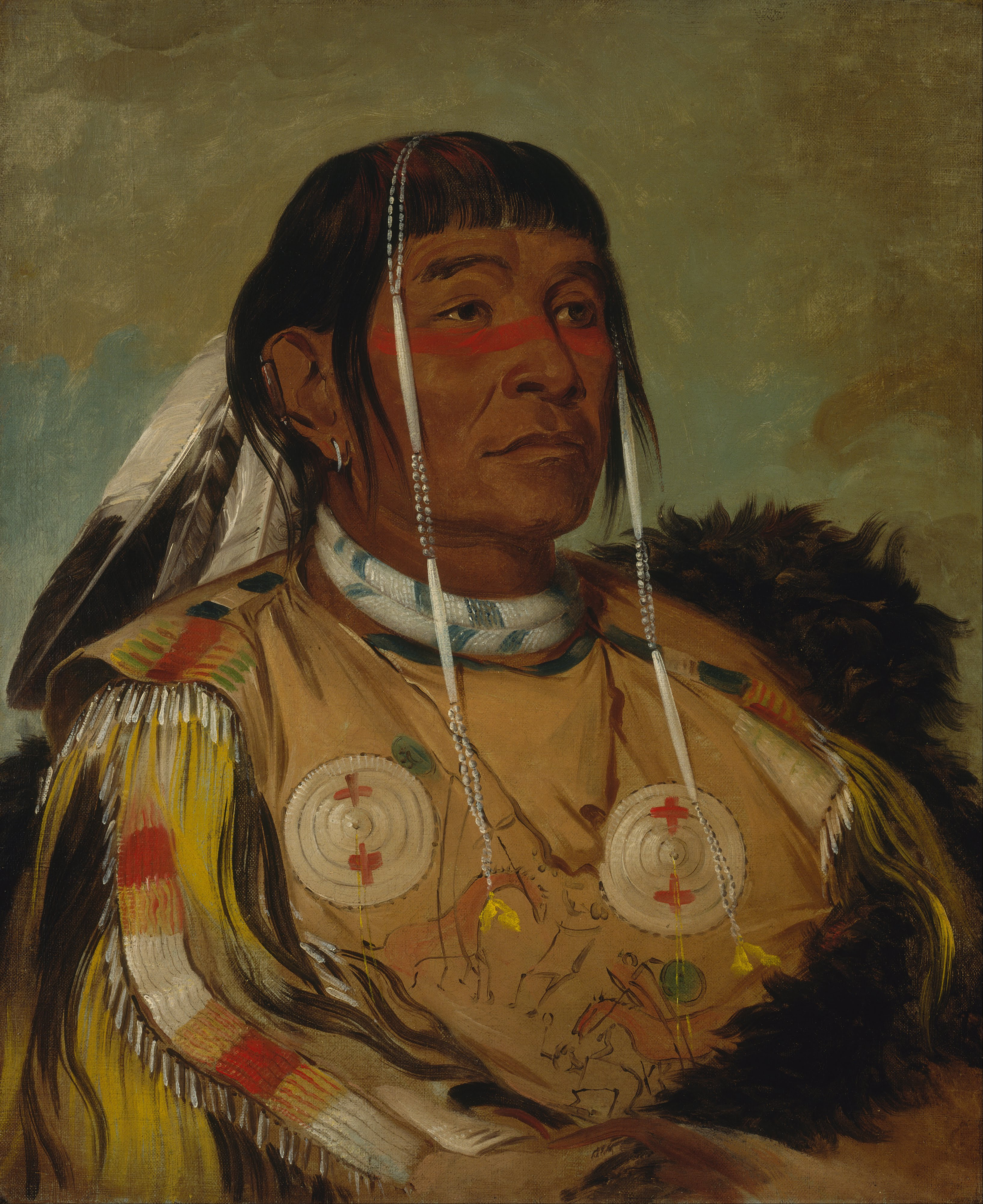 Plains Ojibwe Chief Sha c pay The Six In