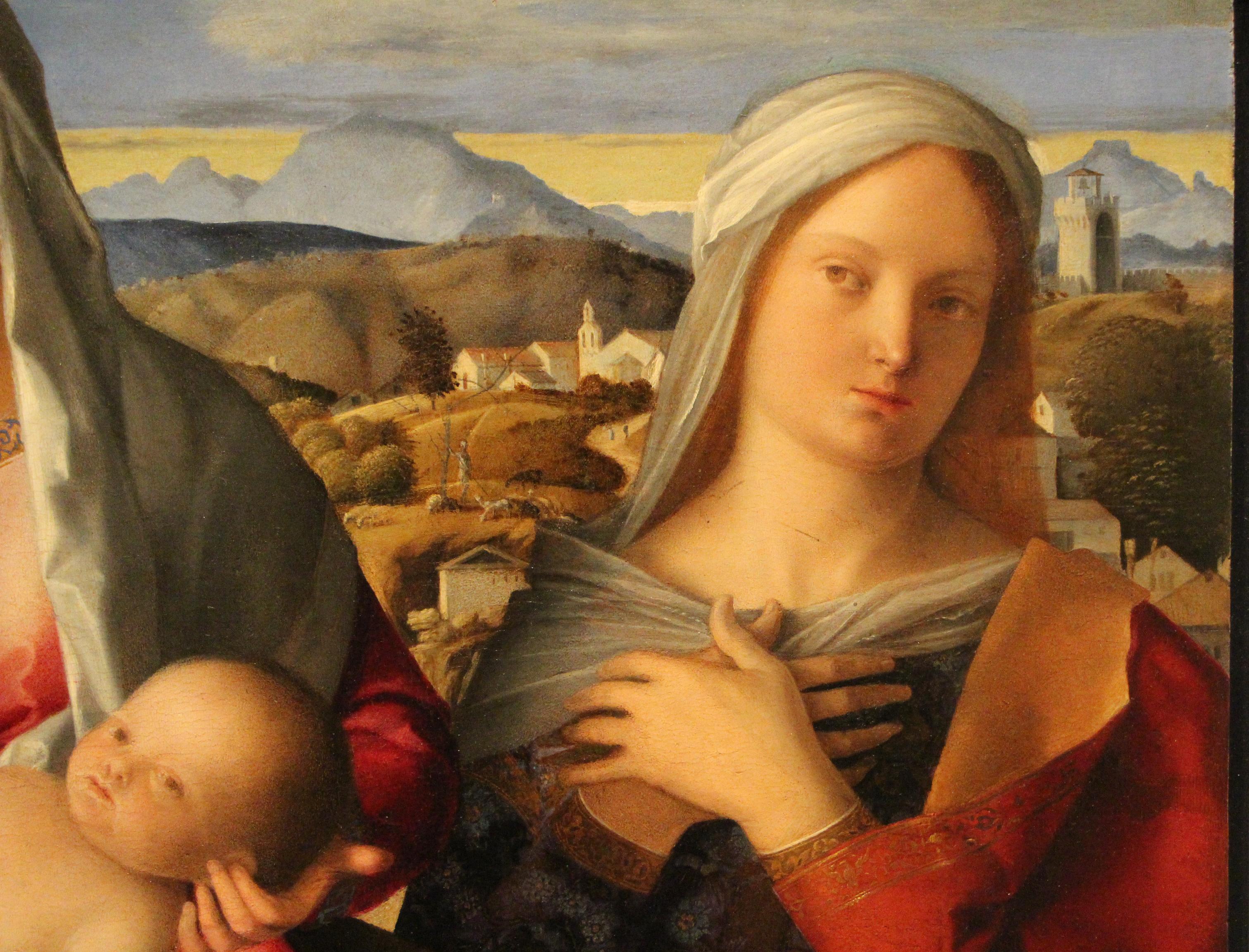 Giovanni Bellini C Madonna Col Bambino Tra S Giovanni Battista E Una Santa Sacra Conversazione Giovannelli C C