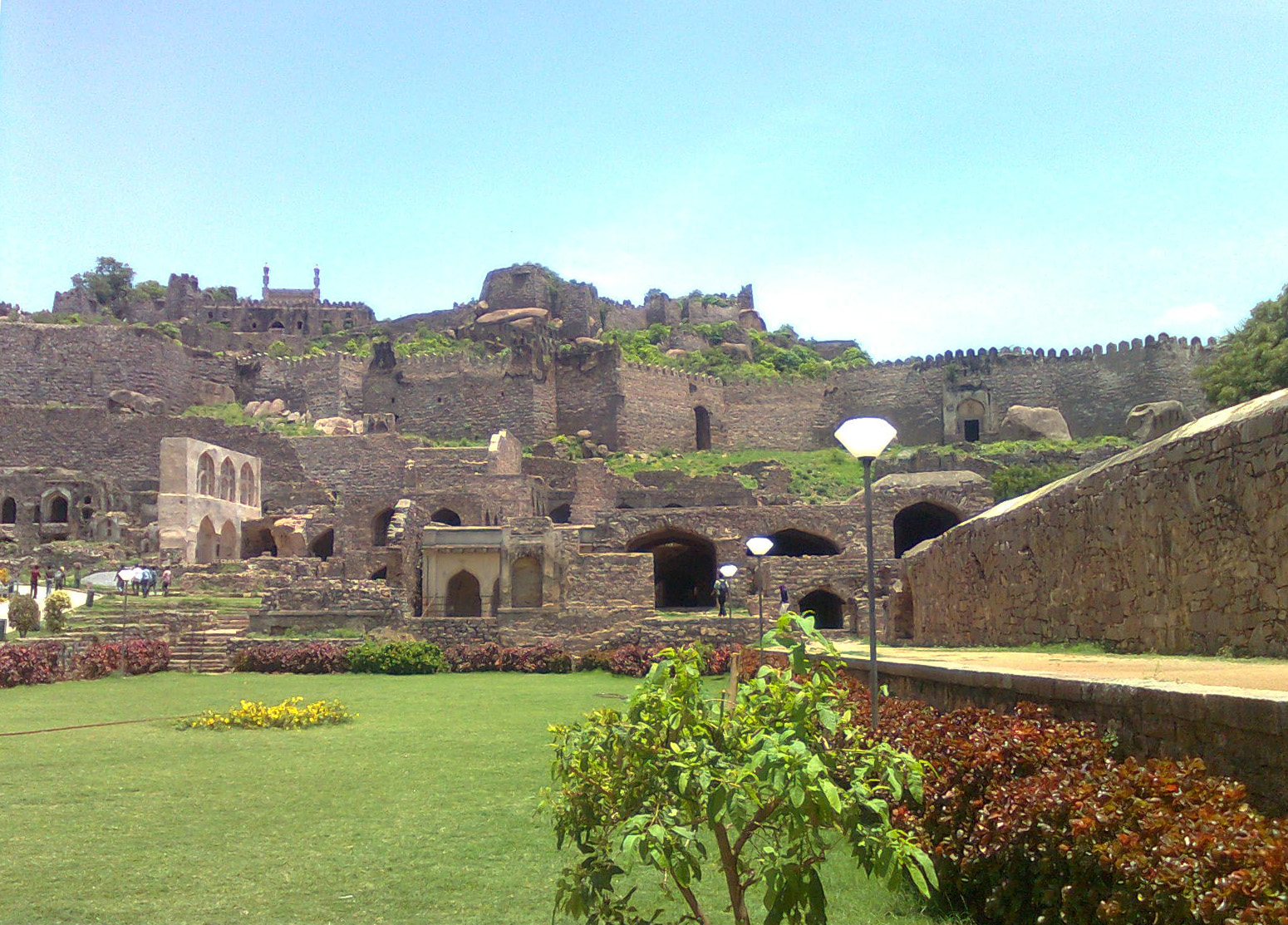 """essay on golconda fort One of the most spectacular monuments of india, golkonda fort is located 11kms west of hyderabad this historic fort derives its name from the telugu word """"golla."""