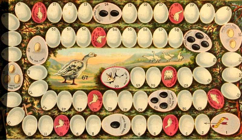 Dutch children's game Ganzenbord
