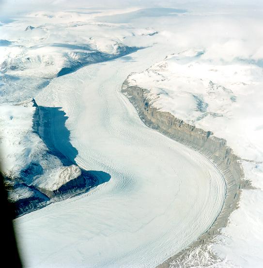 Glaciär på Grönland