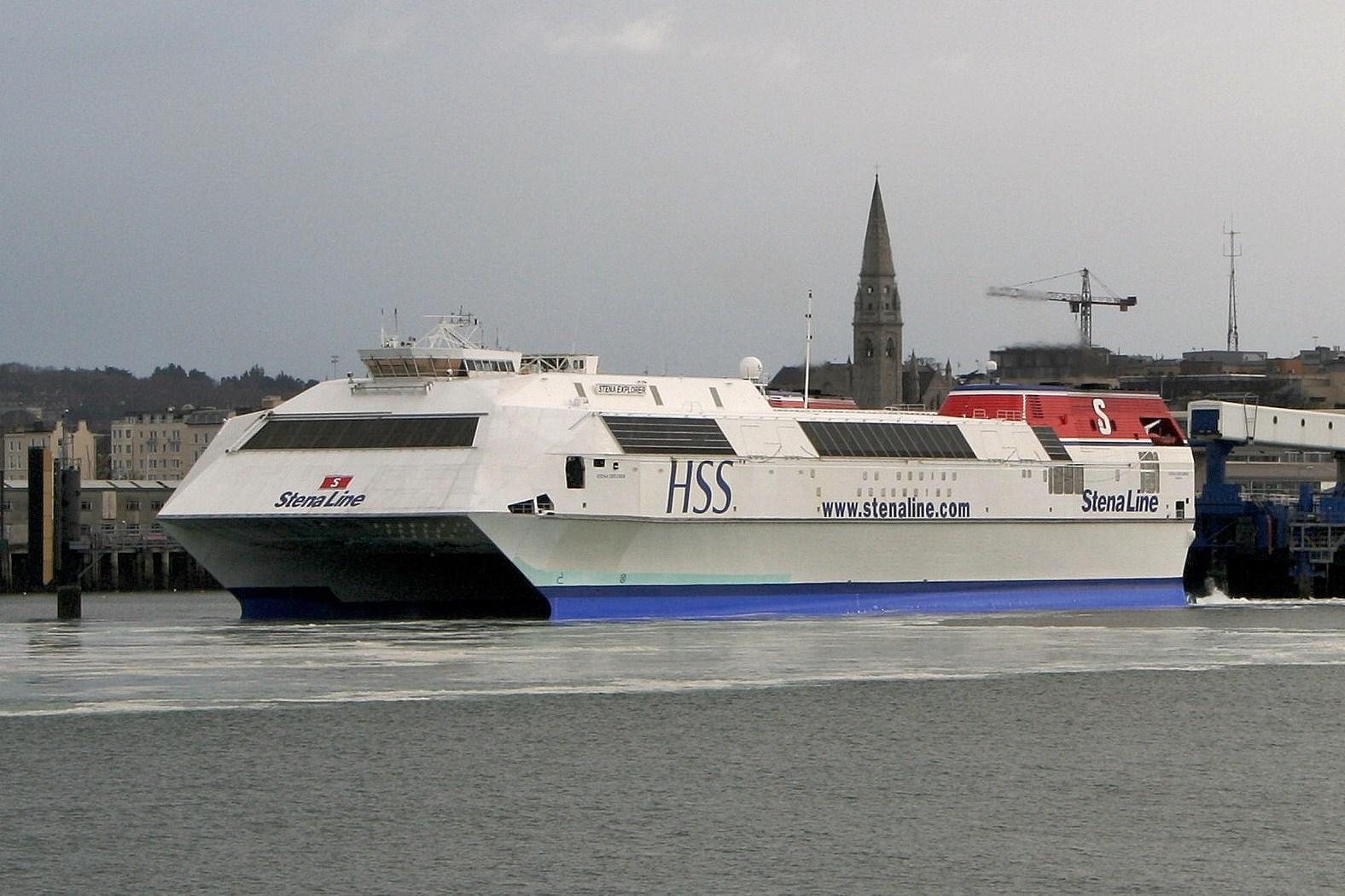 HSS ferry Stena Explorer at Dún Laoghaire