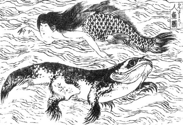 An image of the ningyo, a Japanese type of mermaid.