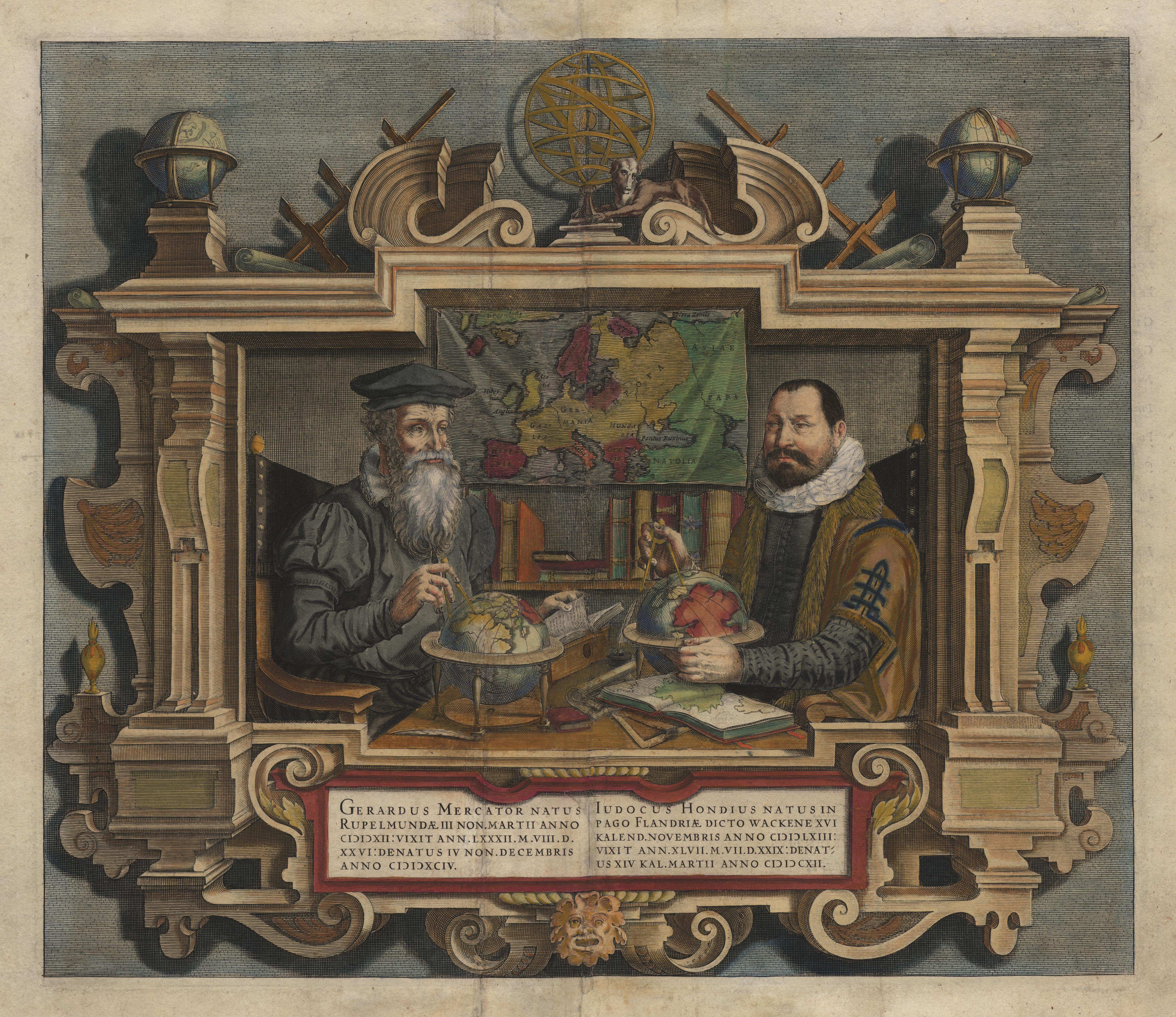 file hondius portrait of map makers wikimedia mons