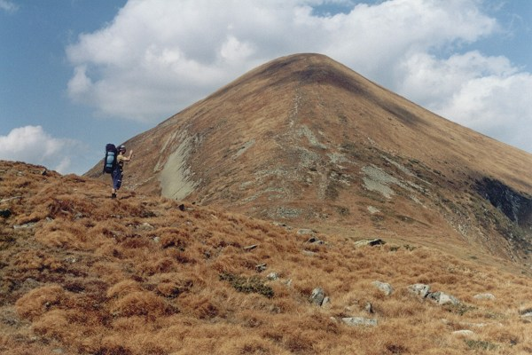 Mount Howerla, the highest mountain in both the Carpathian mountains and in Ukraine.