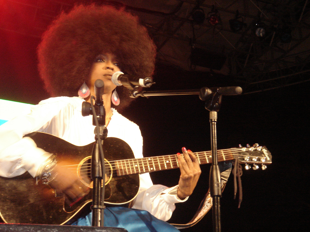 English: Lauryn Hill, performing in New York's...