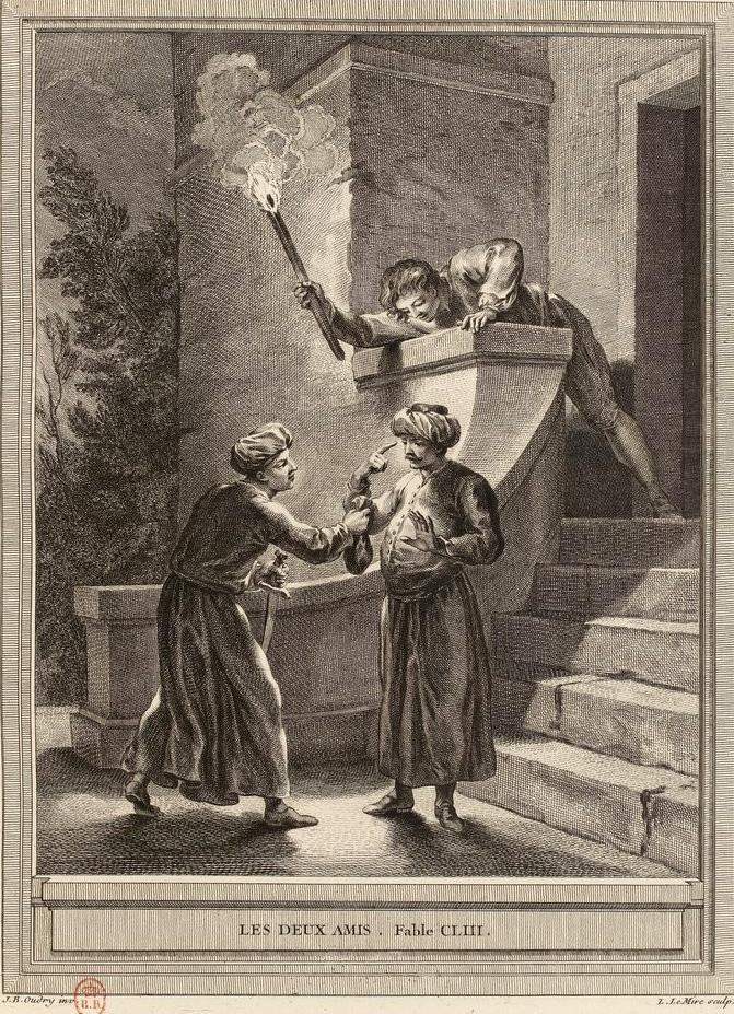 Les Deux Amis (fable) — Wikipédia