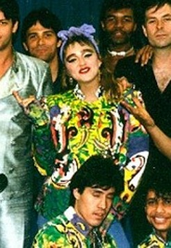 English: Madonna during The Virgin Tour of 1985.