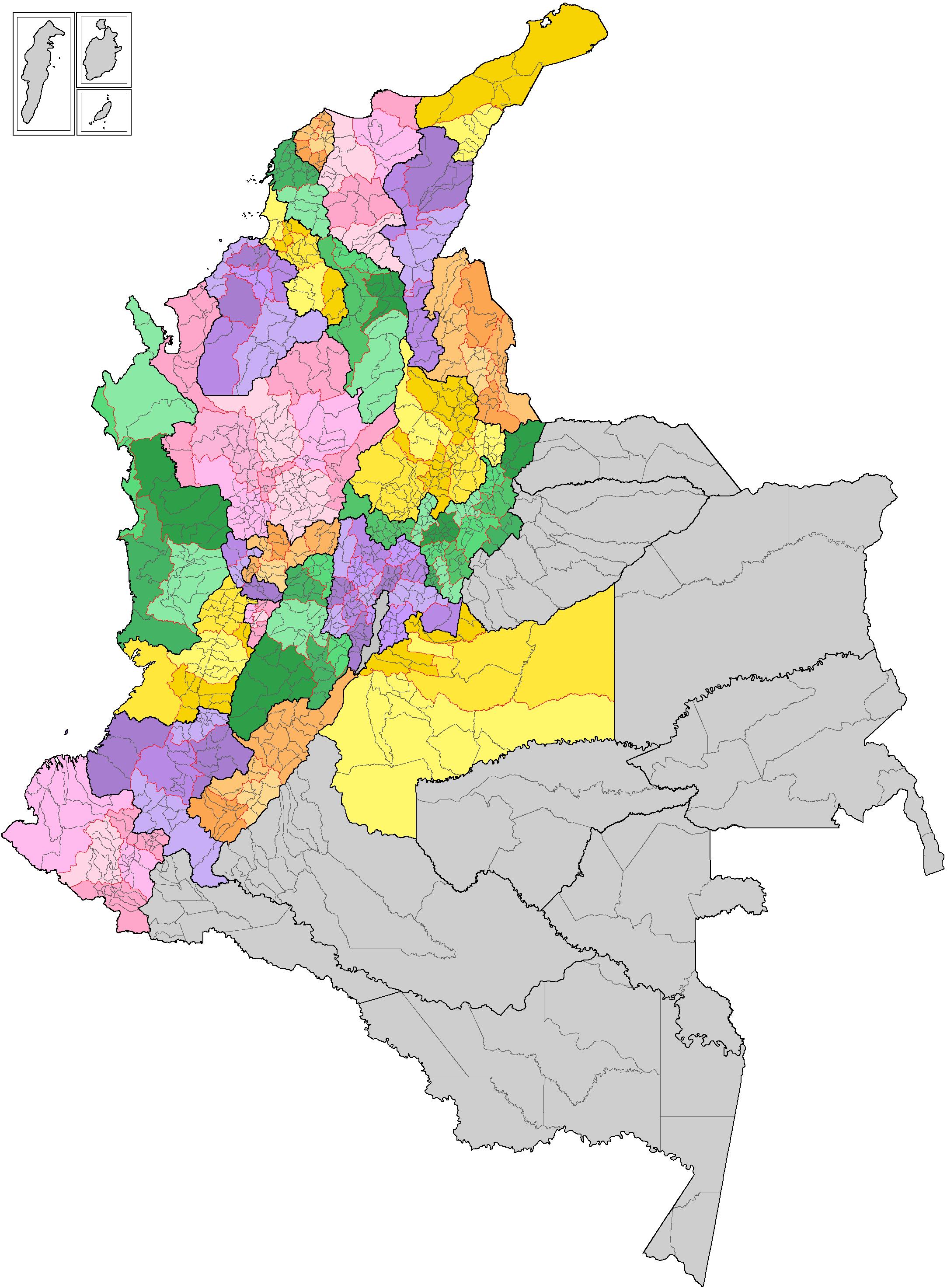 Organización territorial de Colombia - Wikiwand