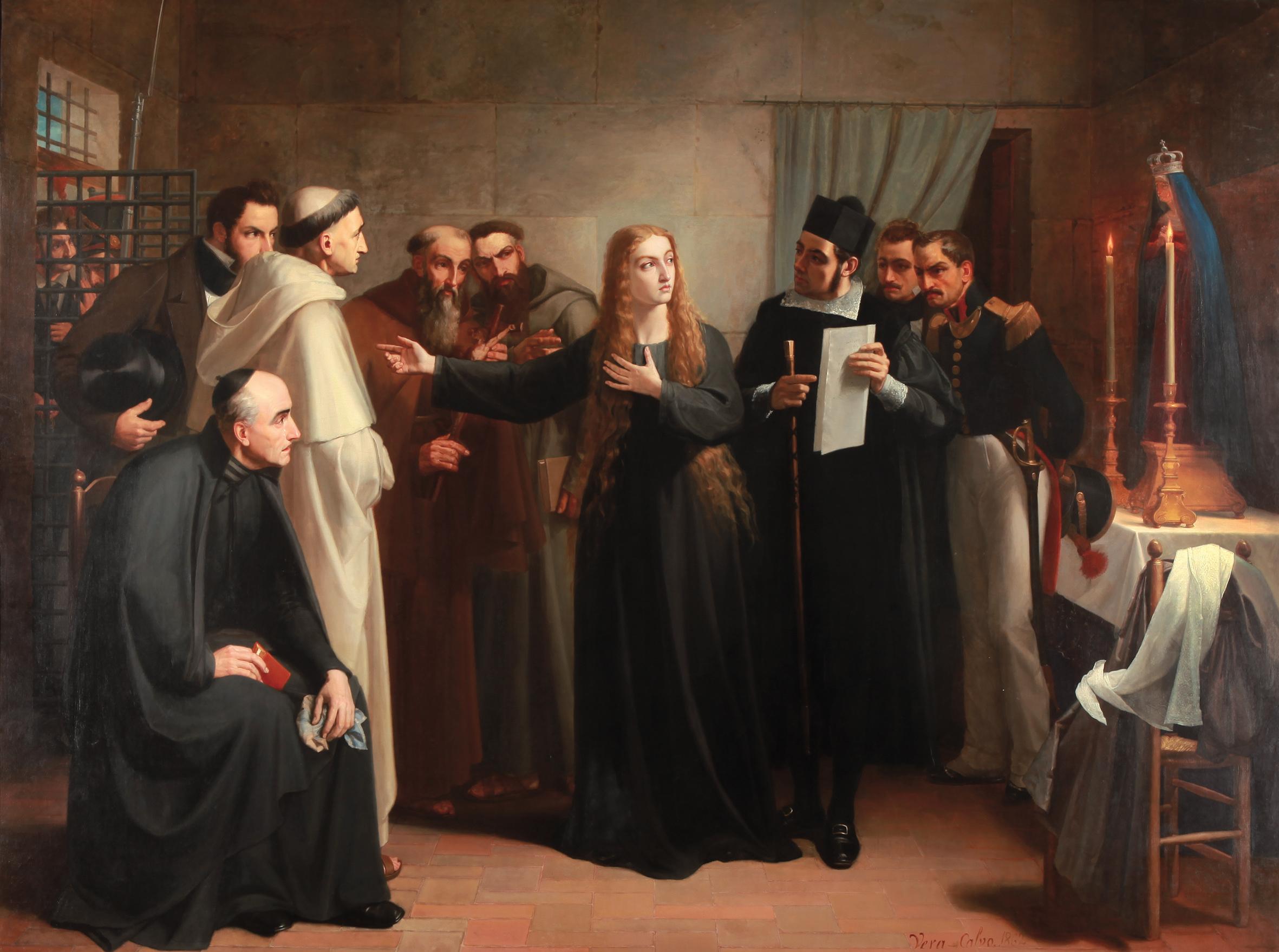 Mariana Pineda por Juan Antonio Vera Calvo en 1862