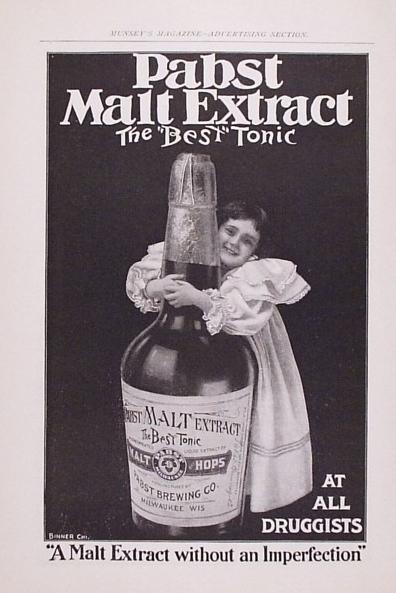 PABST MALT EXTRACT BEER ADVERTISEMENT MILWAUKEE BEER