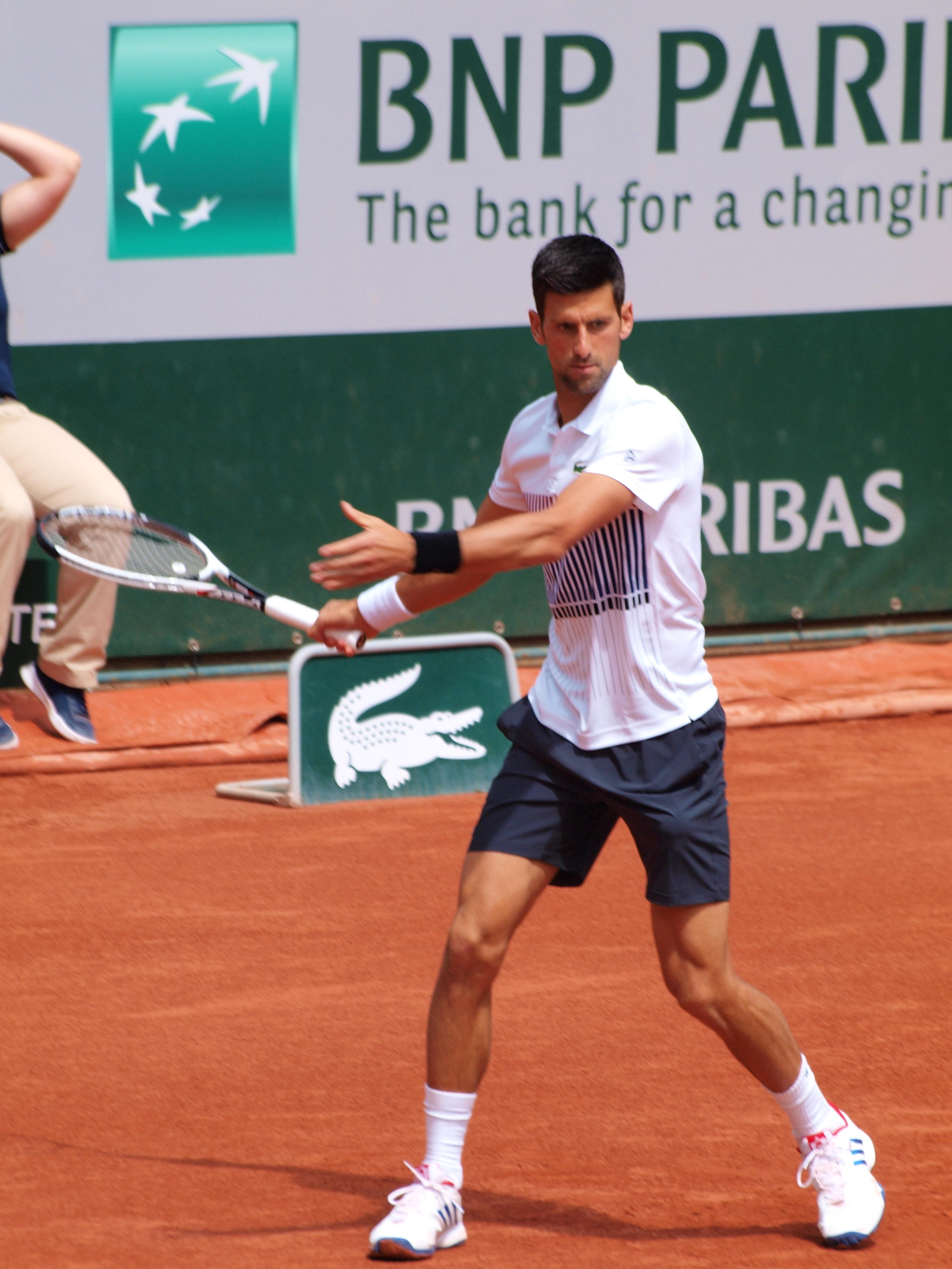 File Paris Fr 75 Open De Tennis 2 6 17 Roland Garros Novak Djokovic 01 Jpg Wikimedia Commons