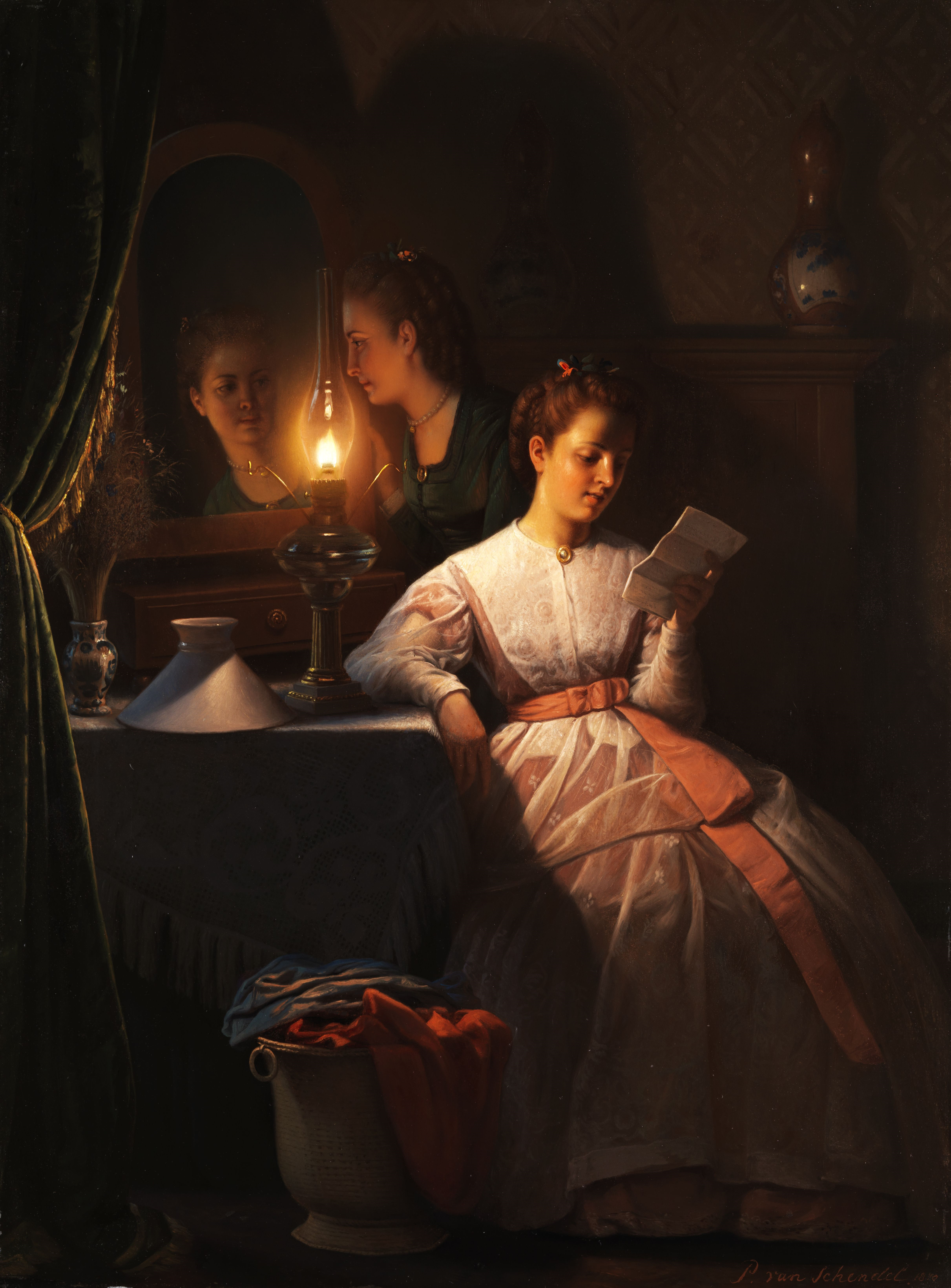 Painting Of A Womn Writing A Letter