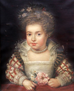 File:Queen Henrietta Maria as a child by Frans Pourbus the Younger 1611.jpg  - Wikimedia Commons