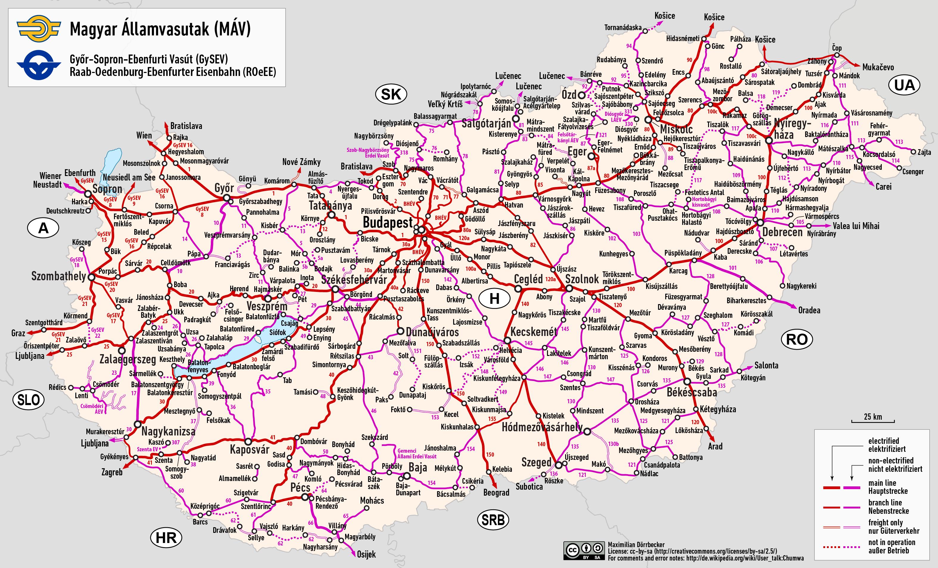 Rail transport in Hungary - Wikipedia