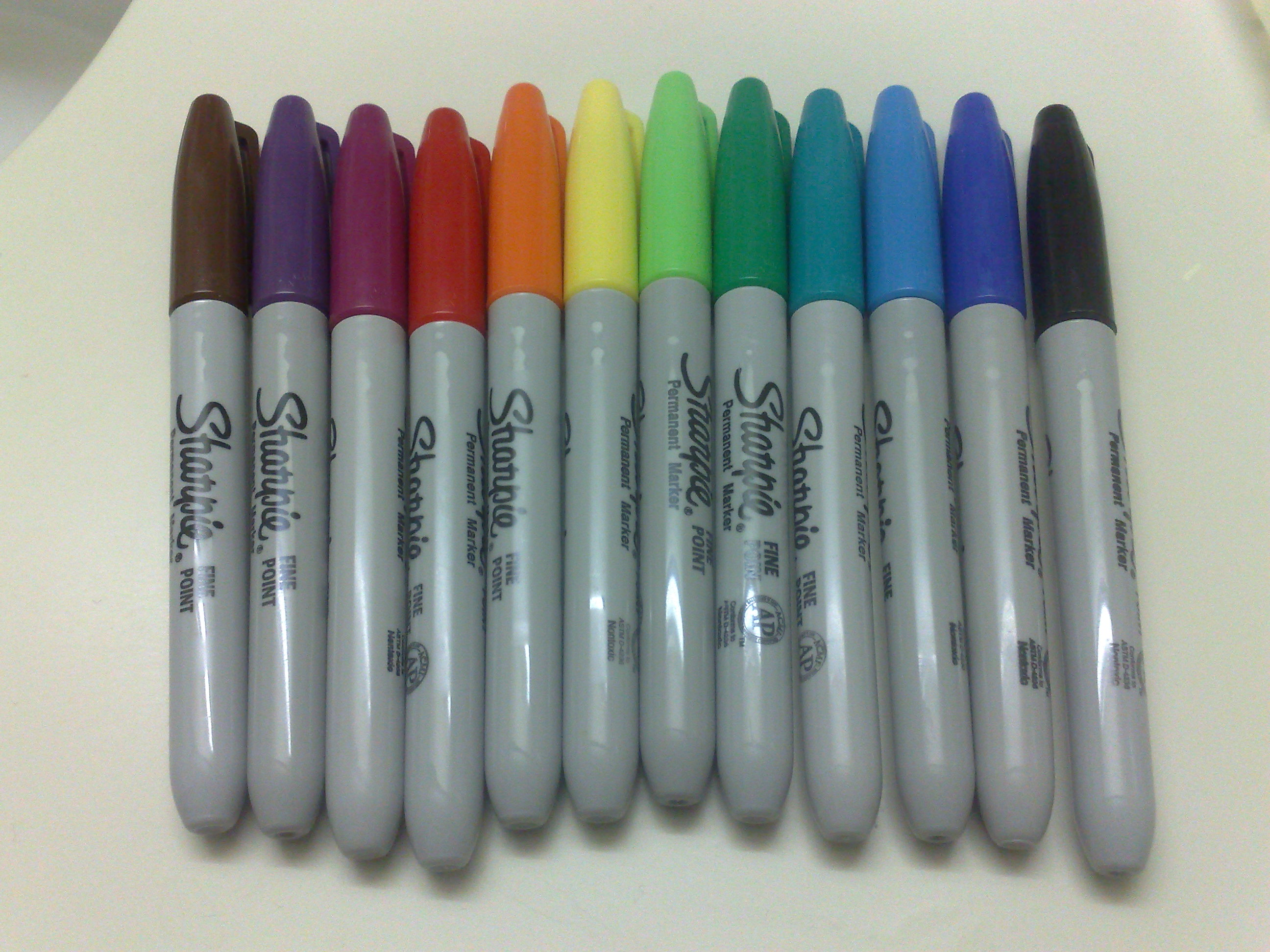 Sharpie Color Chart: Sharpie colours (4501284776).jpg - Wikimedia Commons,Chart