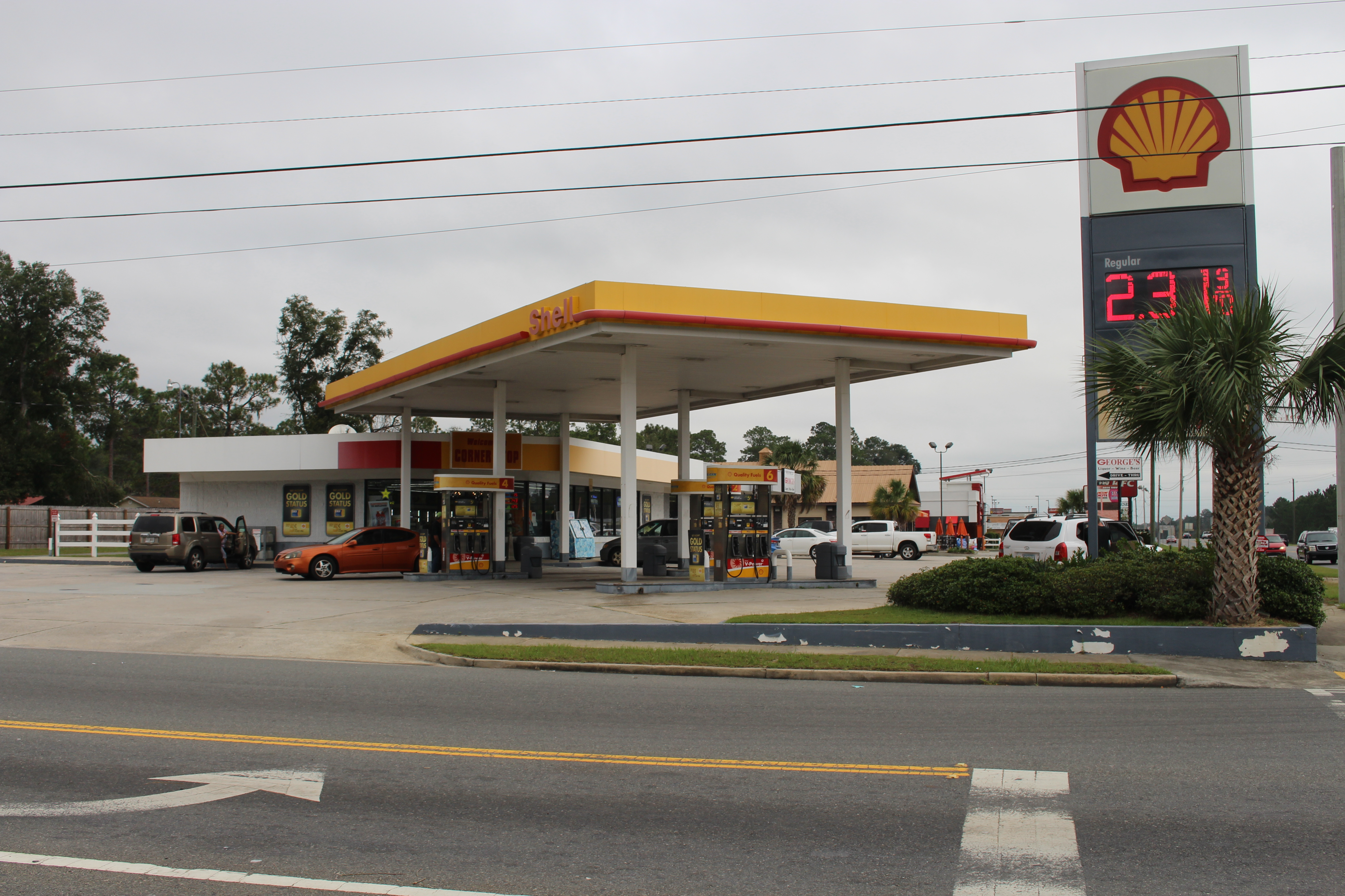 Shell gas station rest stop