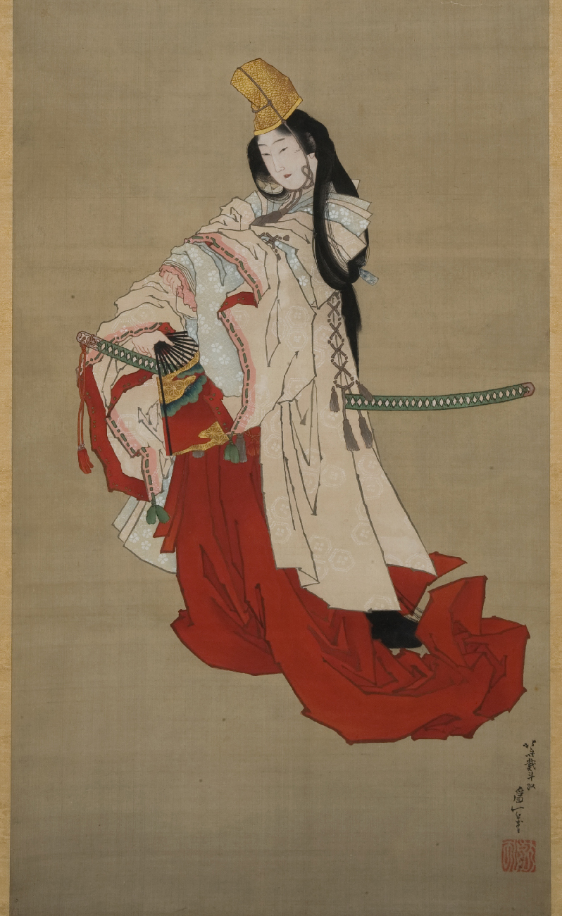 Shizuka-gozen in her farewell dance to Yoshitsune.jpg