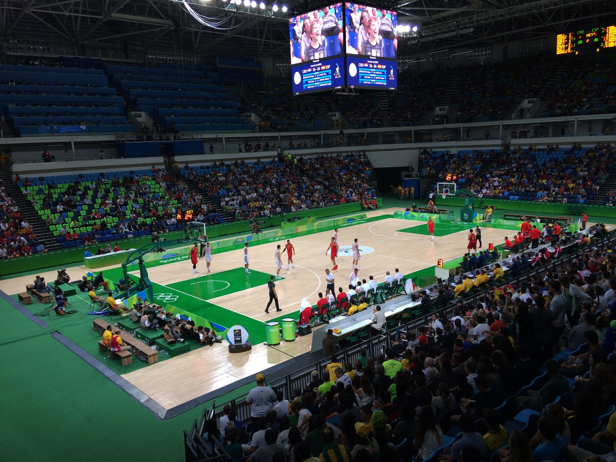 file spain vs croatia olympic basketball tournament carioca arena 1 rio de janeiro brazil. Black Bedroom Furniture Sets. Home Design Ideas