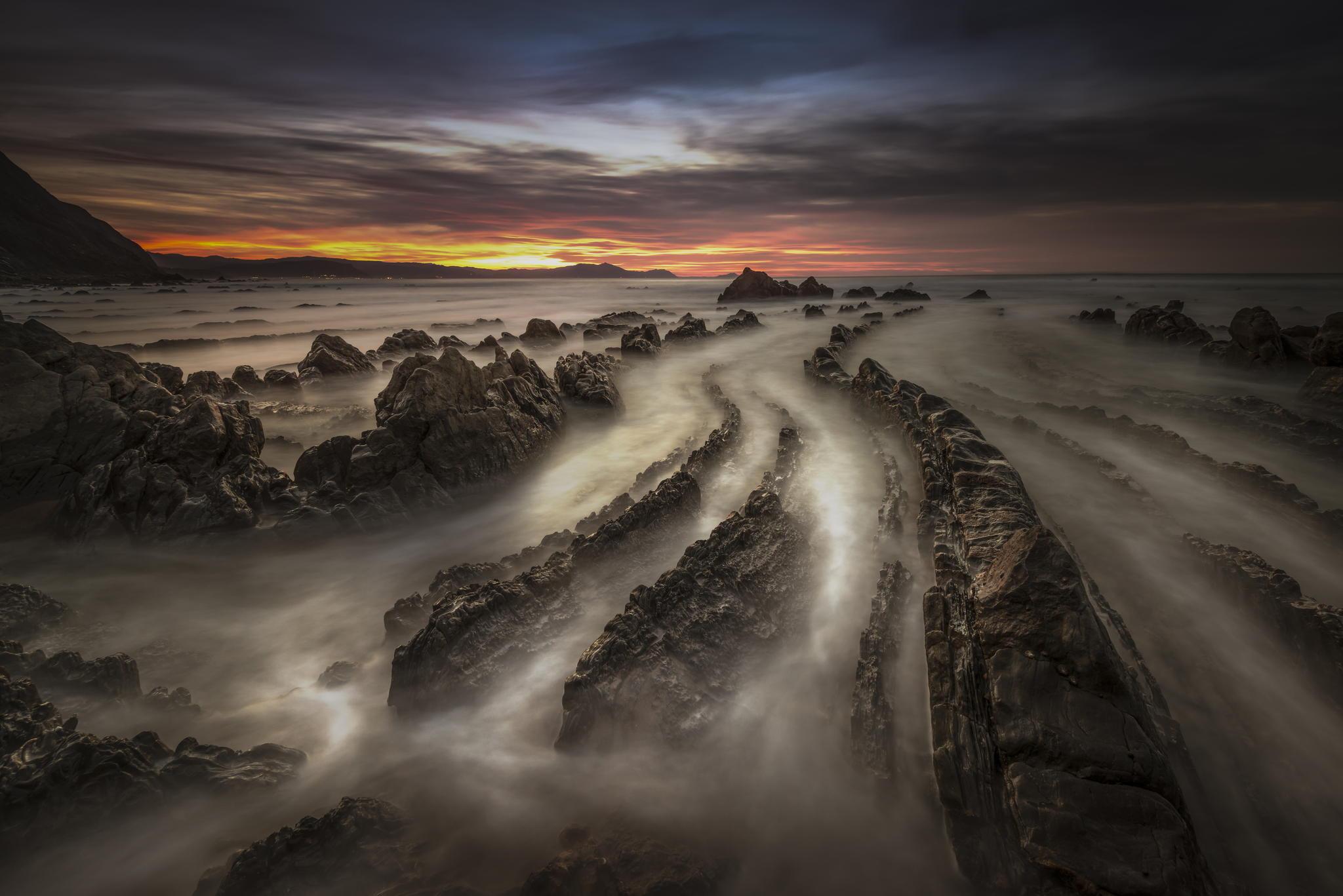 Sunset at Barrika beach.jpg