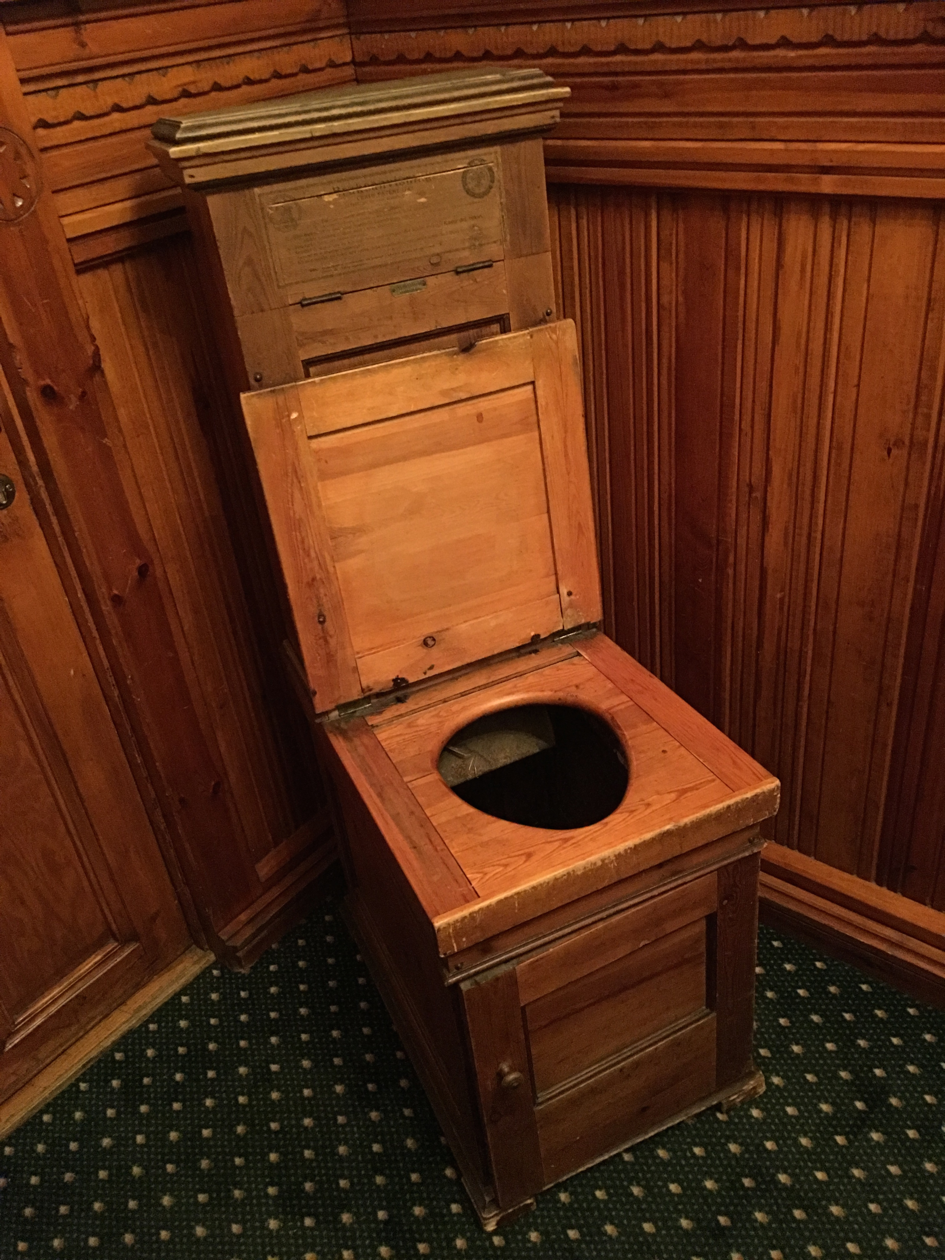 File Swedish toilet chair 1890s Historical Fleischer s Hotel Voss