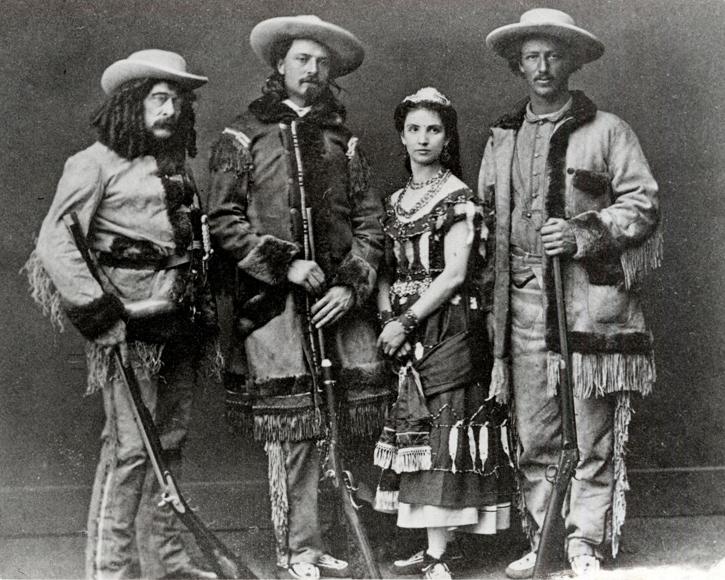 Ned Buntline, Bufalo Bill Cody, Giuseppina Morlacchi, Texas Jack Omohundro