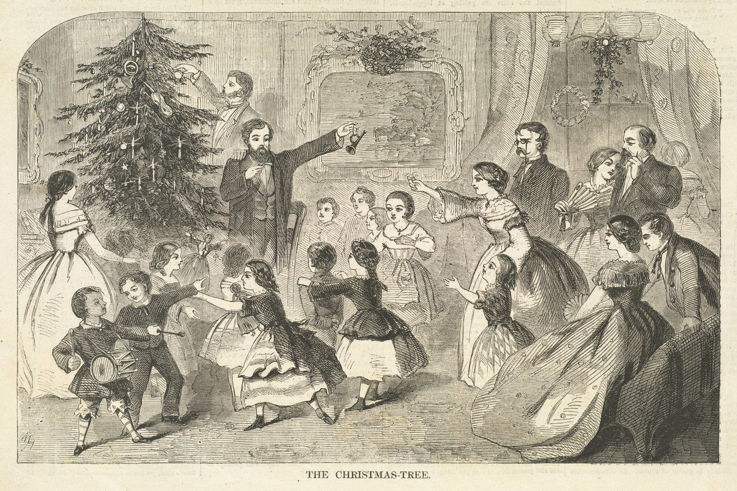 Image result for victorian christmas wood print