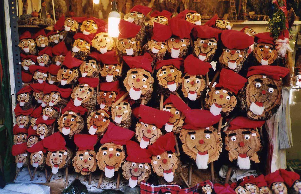 Tions a la fira de santa Llúcia de Barcelona (foto: joan ggk)