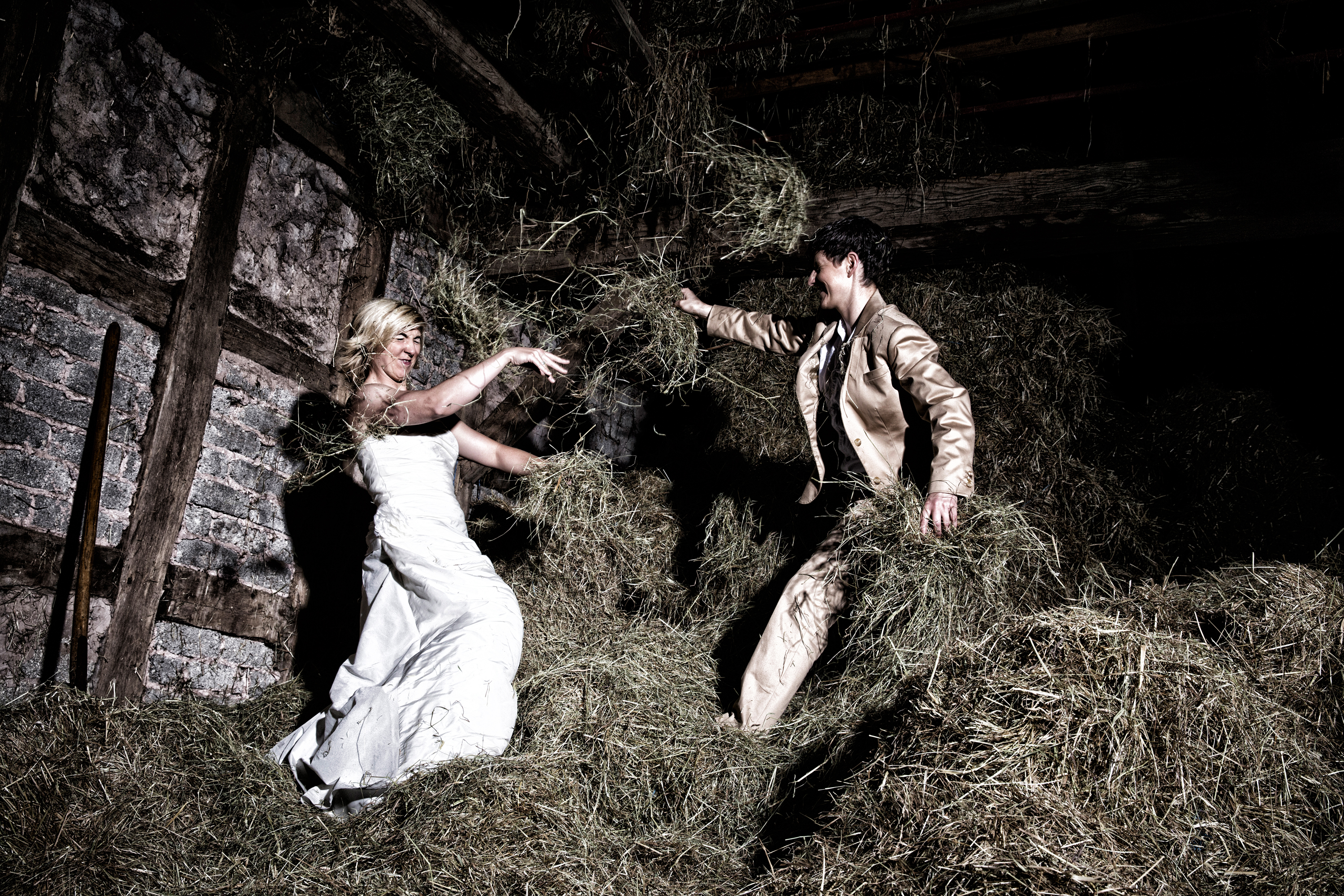Example From A Trash The Dress Shoot On Hayloft Farm