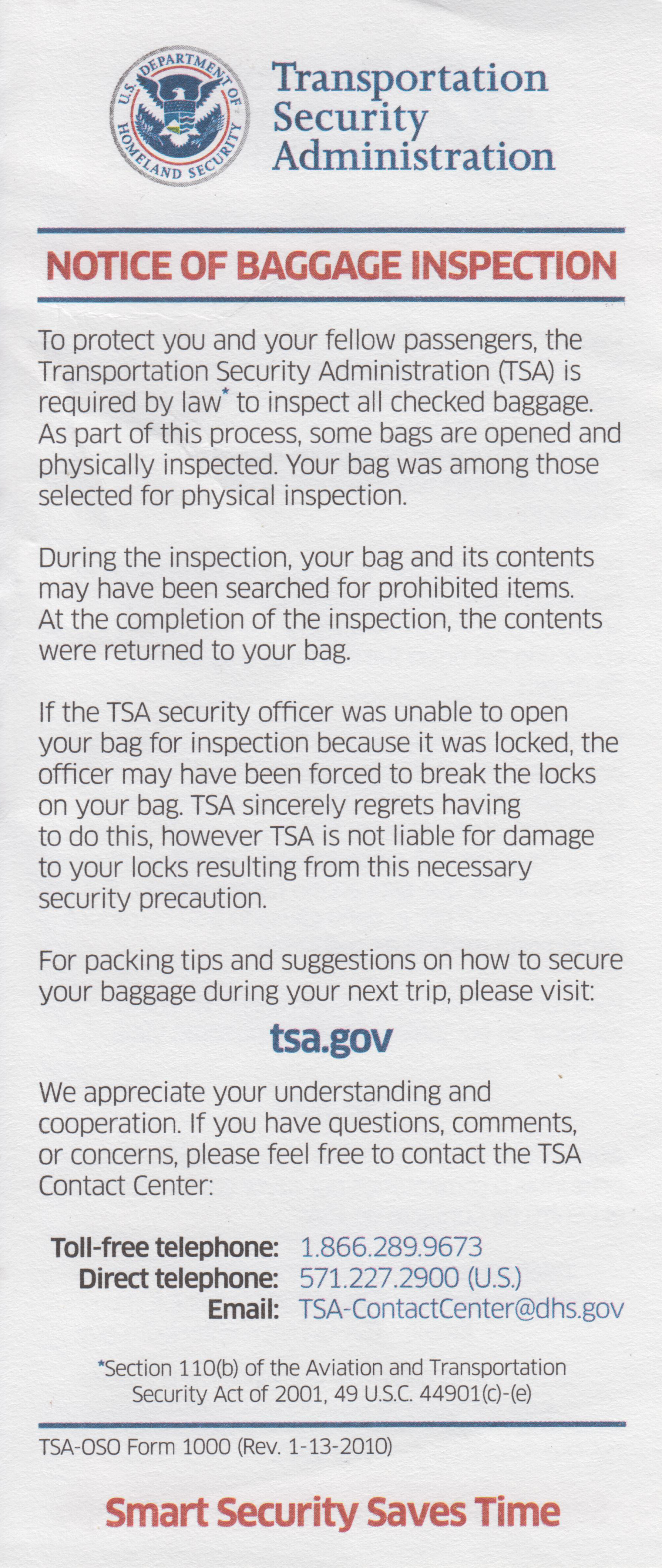 File Tsa Notice Of Baggage Inspection Jpg Wikimedia Commons