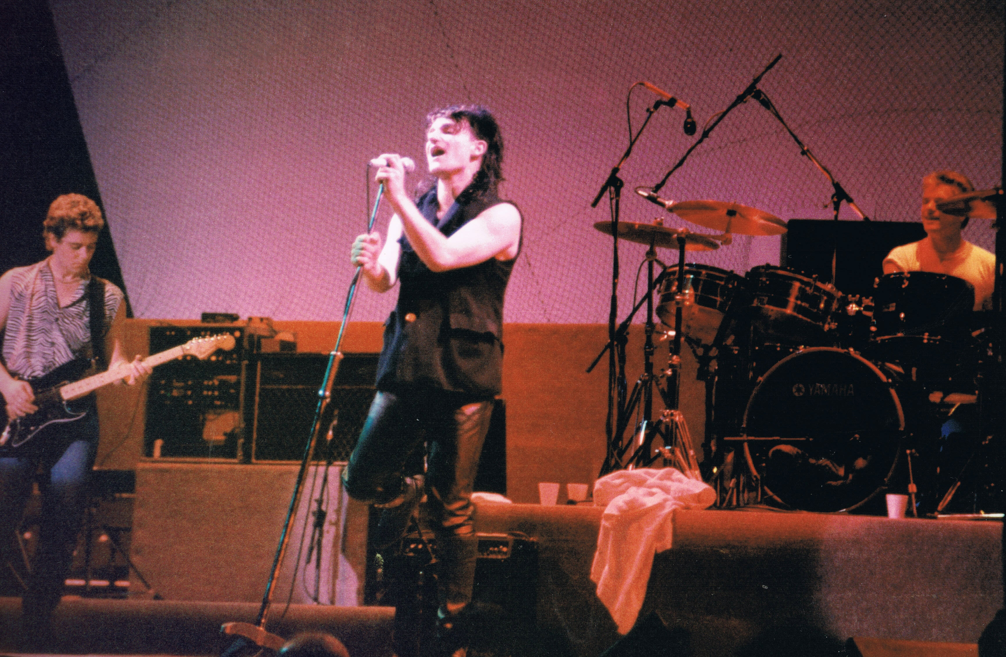U2 performing in Sydney in September 1984 on the Unforgettable Fire Tour
