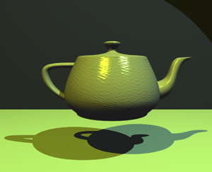 The Utah teapot by Martin Newell and its static renders became emblematic of CGI development during the 1970s. Utah teapot.png