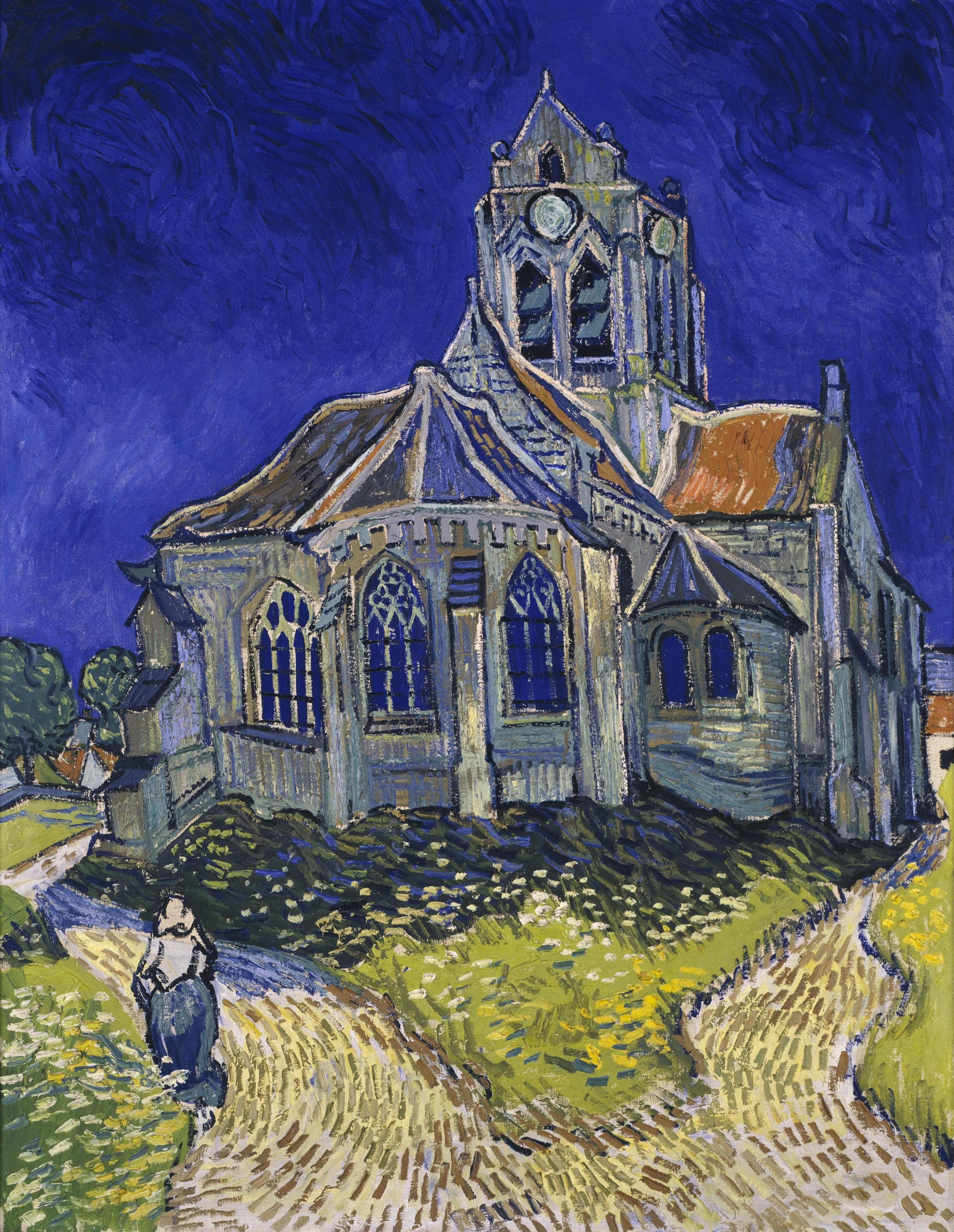 file vincent van gogh the church in auvers sur oise view from the chevet google art project. Black Bedroom Furniture Sets. Home Design Ideas