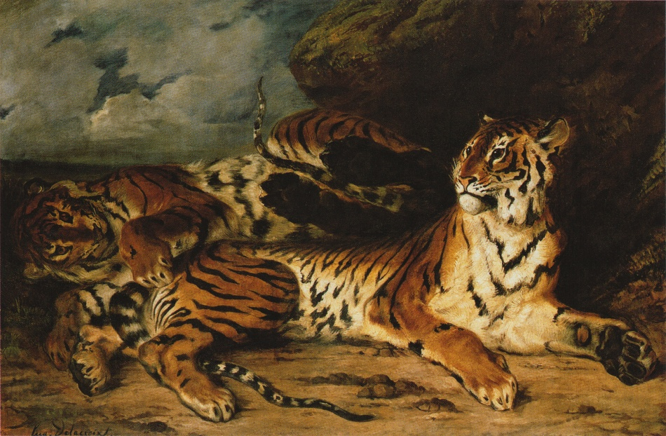 Young tiger playing with its mother.jpg