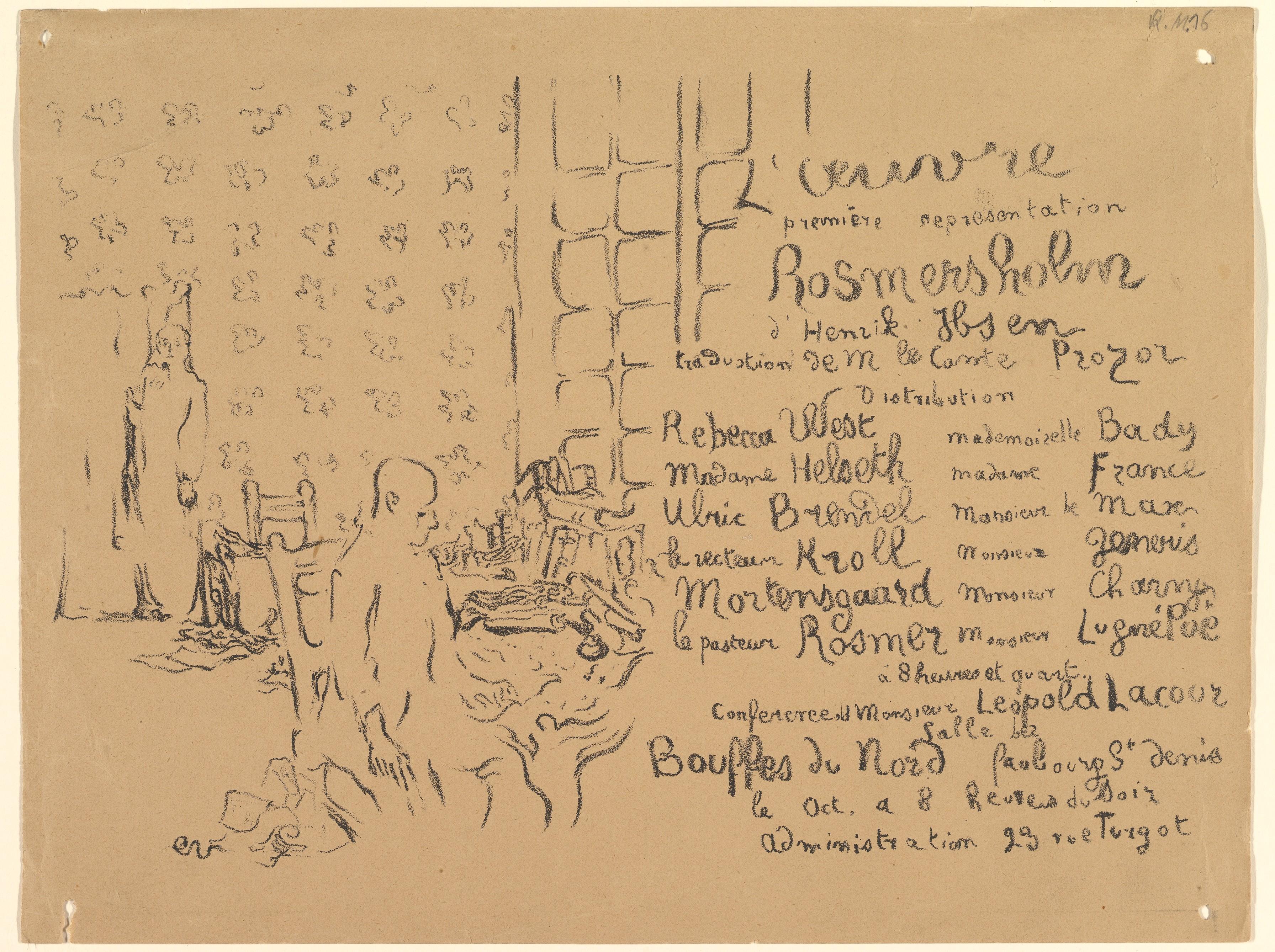 Program from Thtre de lu0027Oeuvre October 1893