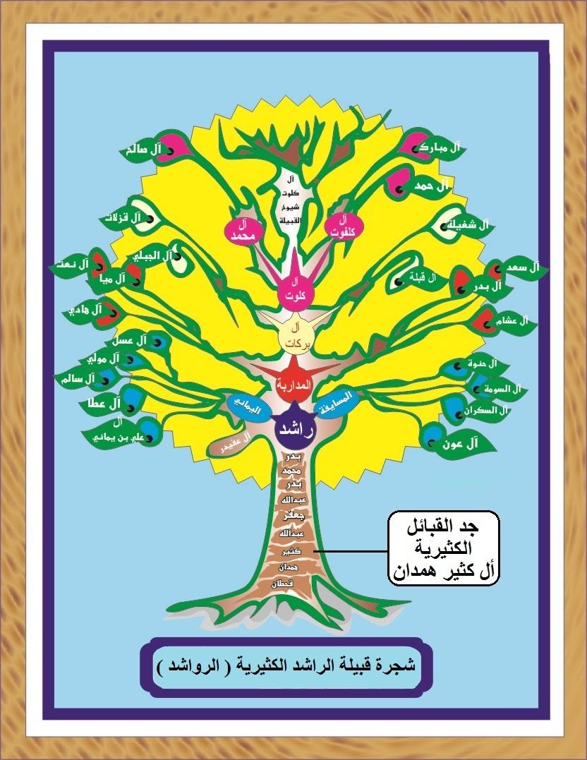 ملف شجرة قبيلة الرواشد الكثيرية و شجرة قبيلة الراشدي Jpg ويكيبيديا