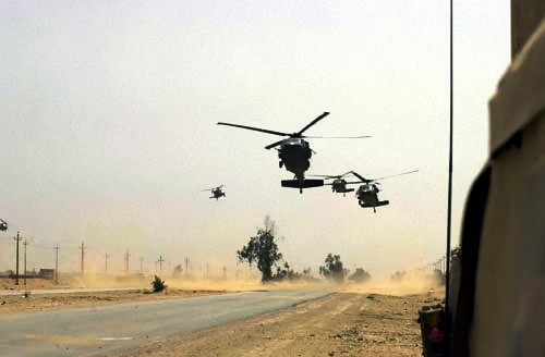 101st Airborne Division helos during Operation Iraqi Freedom