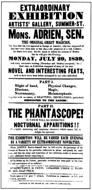 1839 Adrien phantascope ArtistsGallery SummerSt Boston