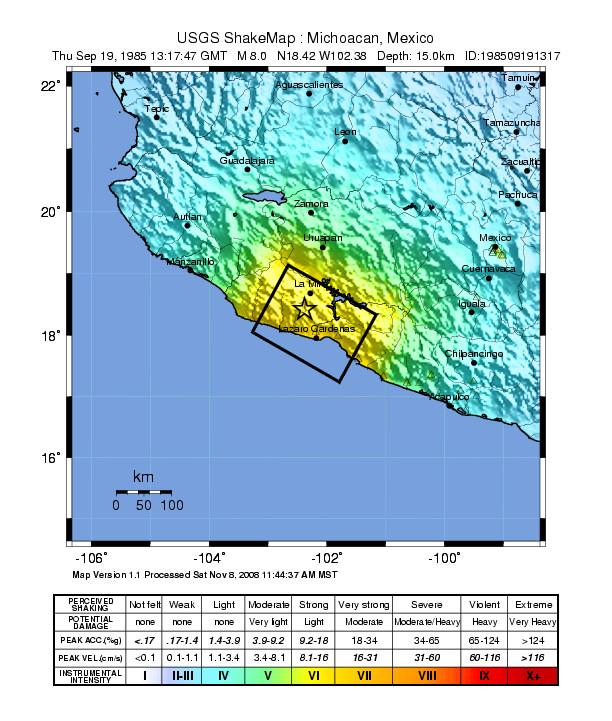 Terremoto de México de 1985 - Wikipedia, la enciclopedia libre
