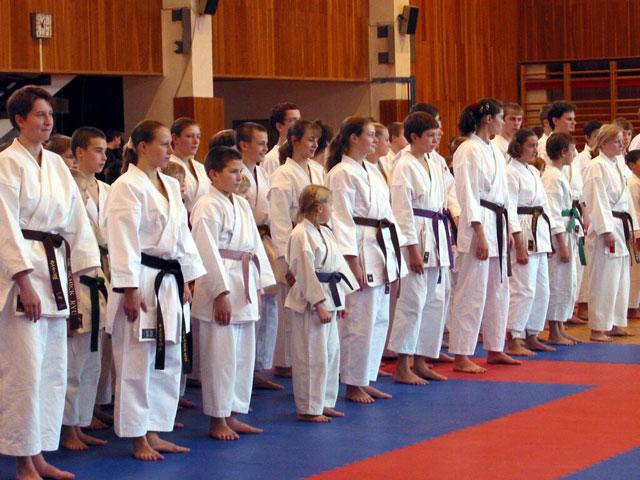 Trenujący karate