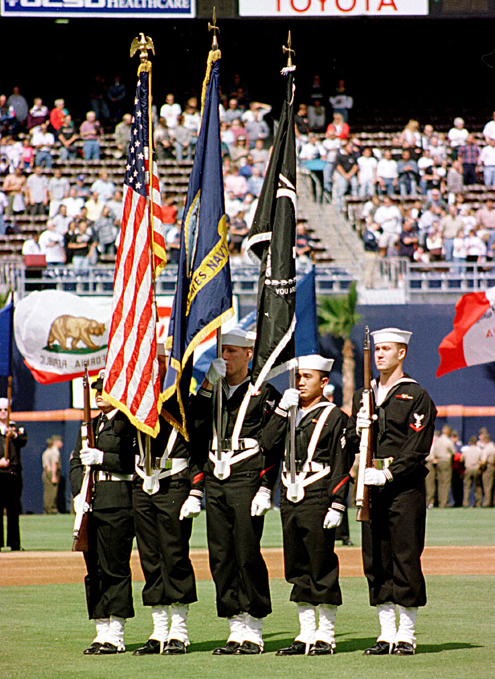 File 970403 N 1016m 001 Navy Color Guard Jpg Wikimedia